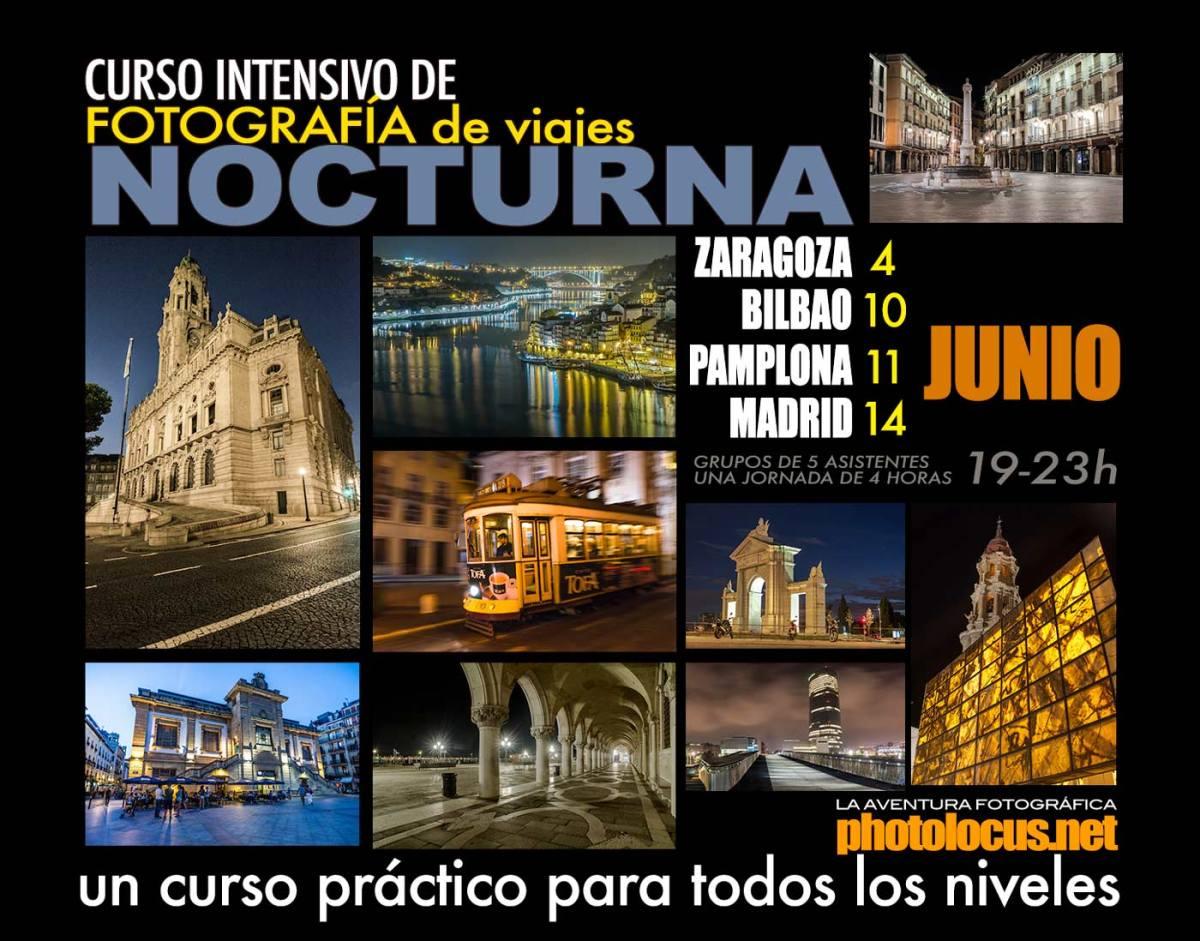 Cursos de fotografía nocturna de ciudades en Junio 2018